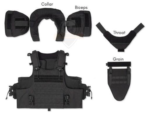 Tactisch vest bescherming keel/kruis/kraag/biceps